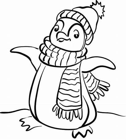 Coloring Winter Pages Preschool Printable Animal Preschoolers