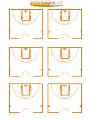 blank basketball court diagram templates printable