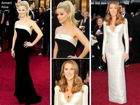 Reese Witherspoon And Celine Dion In Armani Prive Gowns At