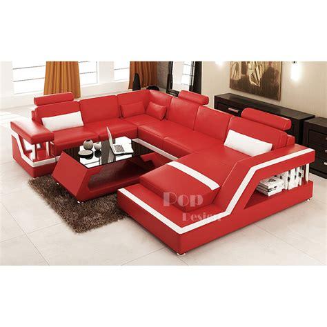 canapé d angle en cuir design canapé d 39 angle panoramique design en cuir tosca xl