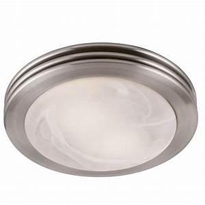 Shop utilitech 2 sone 80 cfm brushed nickel bathroom fan for How many cfm for bathroom fan