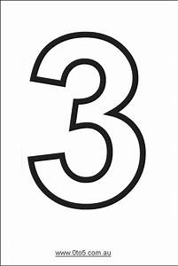 number three printable template With number 3 cake template