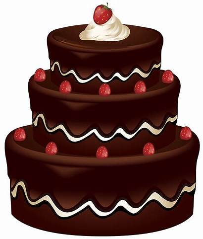 Cake Clip Clipart Cakes Chocolate Birthday Pies