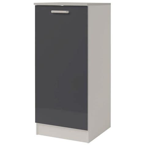 demi armoire cuisine demi armoire de cuisine 60cm quot shiny quot gris