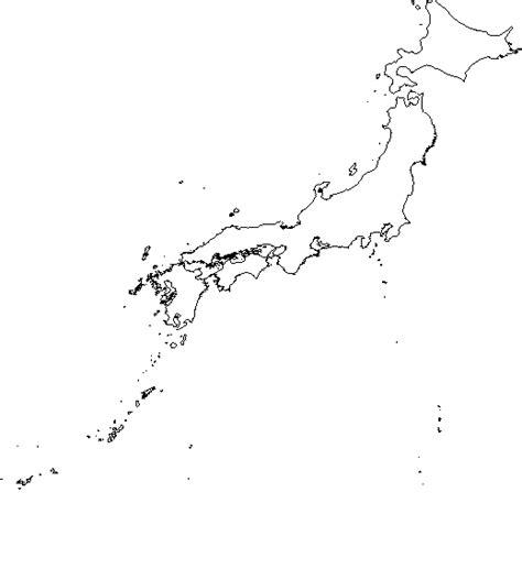 blank outline map  japan