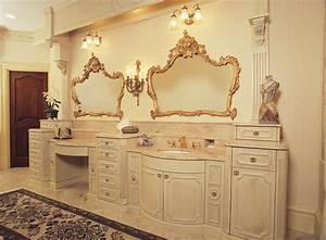 Fancy Glazed Painted Victorian Bathroom Vanity