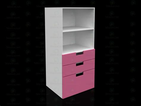 ikea pink and white dresser 3d model ikea stuva bookcase with drawers white pink in