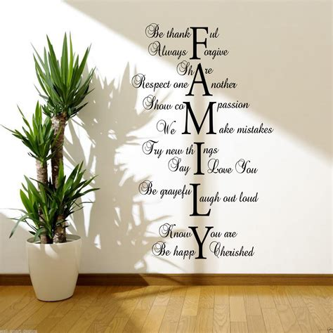 stickers cuisine citation family wall sticker quote room decal mural
