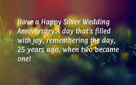 25 year wedding anniversary 25th anniversary wishes happy silver wedding anniversary messages wooinfo