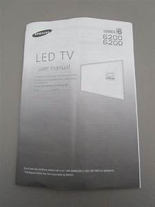 Samsung Led Tv Series 6 6200 620d User Manual New