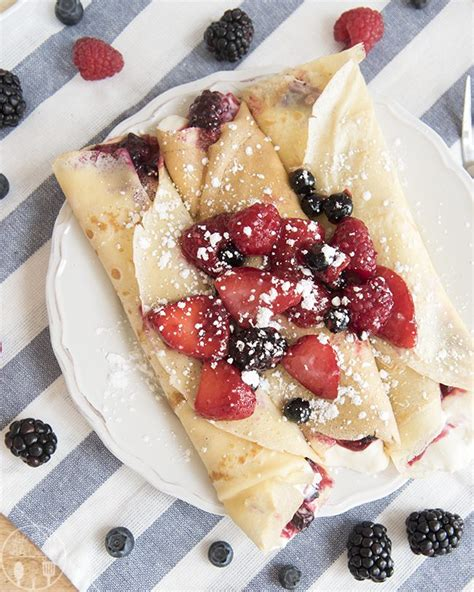 berries and crepes