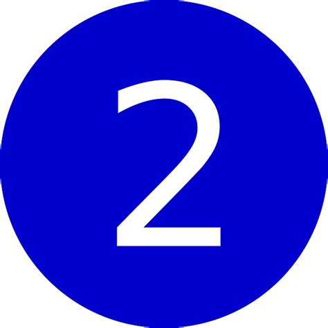 Two 2 Number · Free Vector Graphic On Pixabay