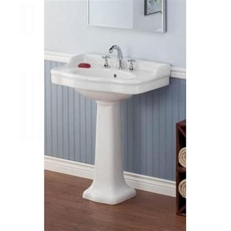 Cheviot   Lav Wh  Antique White White Pedestal Bowl