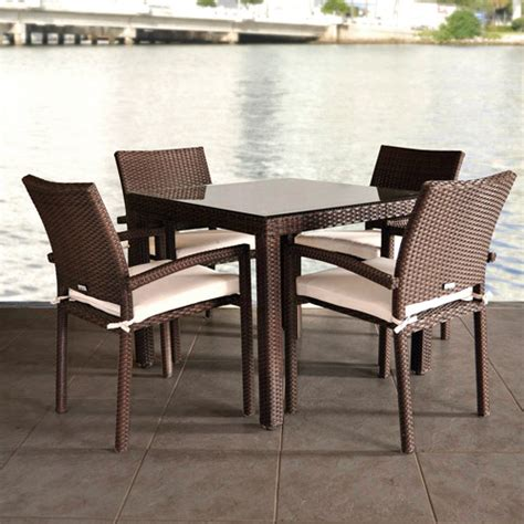 liberty all weather wicker 5 piece patio dining set with