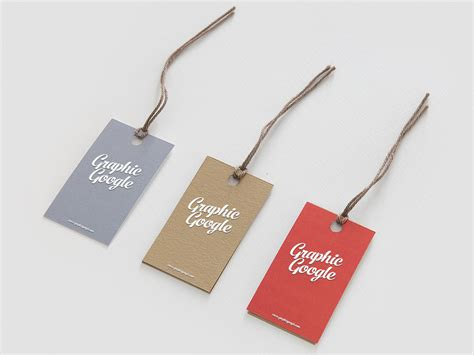 free label hang tag logo mock up psd for brand designers