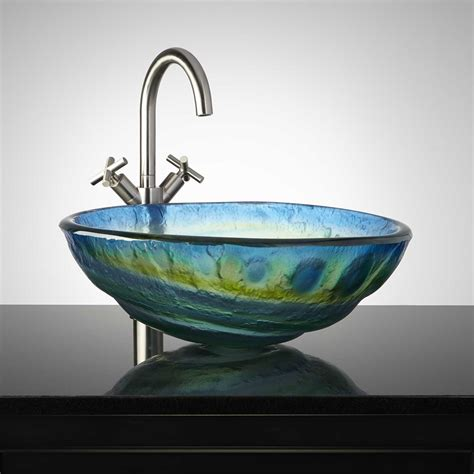 Cosmo Glass Vessel Sink Bathroom