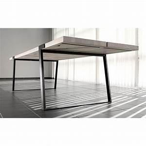 Tischgestell Metall Schwarz : esstisch eiche wei ge lt tisch eiche massiv wei tischbeine metall schwarz ma e 290 x 100 cm ~ Frokenaadalensverden.com Haus und Dekorationen