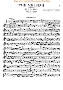 Messiah (Oratorio, 1741) - Violin I Sheet Music By George