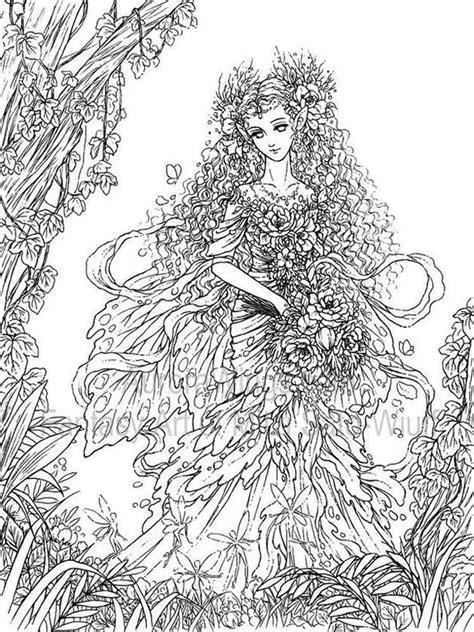 fantasy coloring pages  adults  printable fantasy