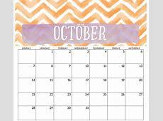 Free Printable Calendar October 2018 Cute – Printable