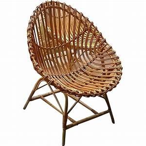 Fauteuil En Forme D Oeuf : ensemble de 5 fauteuils de jardin en rotin en forme d 39 oeuf 1950 design market ~ Teatrodelosmanantiales.com Idées de Décoration
