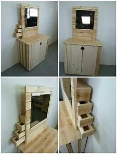 Schminktisch Aus Paletten : pallet dresser with side drawers diy projects pinterest m bel aus paletten palette und ~ Markanthonyermac.com Haus und Dekorationen