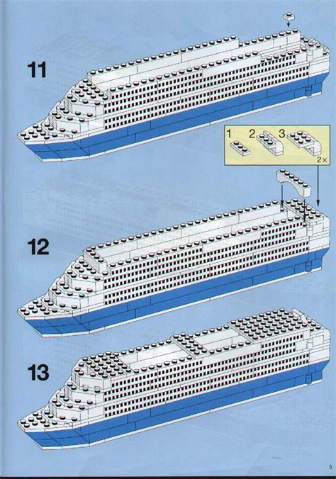 Instructions For 1955-1 - Color Line Promotional Set Cruise Ship | Bricks.argz.com