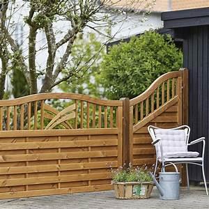 Holz Sichtschutz Zaun Ronda Teak