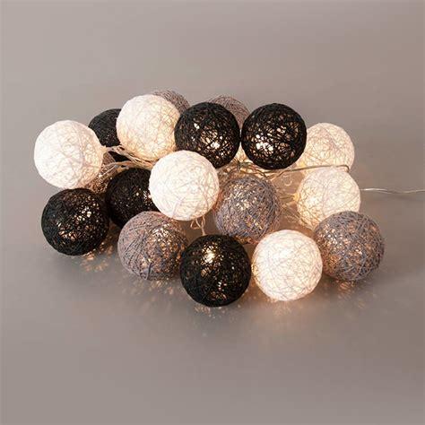 applique cuisine led guirlande lumineuse 20 boules led en coton tressé noir