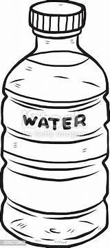 Bottle Water Clipart Drawing Butelka Wasserflasche Vector Drink Drawn Wasser Vektor Woda Cold Kaltes Cliparts Comic Flasche Vectors Getraenk Text sketch template