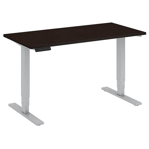 large adjustable height desk sit stand desks by cubicles com