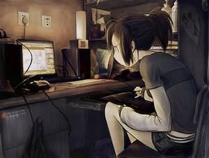 Tired Anime Girl - Ah My Goddess & Anime Background ...