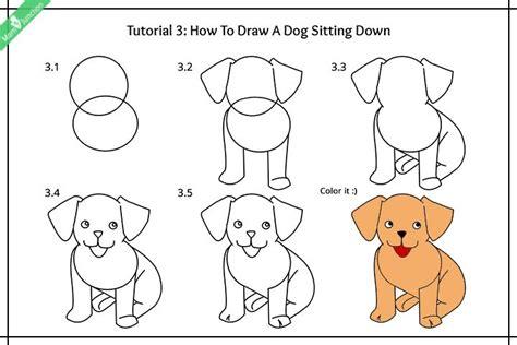 step  step guide    draw  dog  kids
