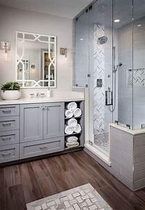 Wonderful, Elegant, Grey, Bathroom, Ideas