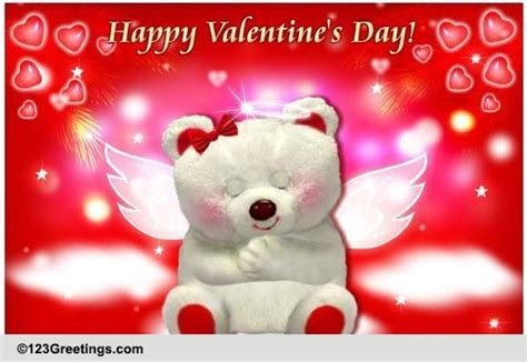 valentines day angel cupid cards  valentines day angel cupid wishes