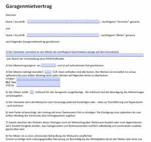 Mieter Kündigen Vorlage : garagen mietvertrag kostenlose ~ Orissabook.com Haus und Dekorationen