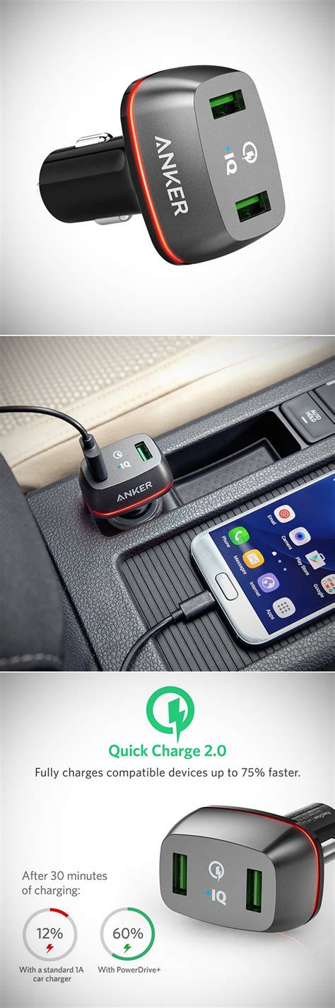 Anker Dual Car Charger by Anker Charge 2 0 36w Dual Usb Car Charger Lets You