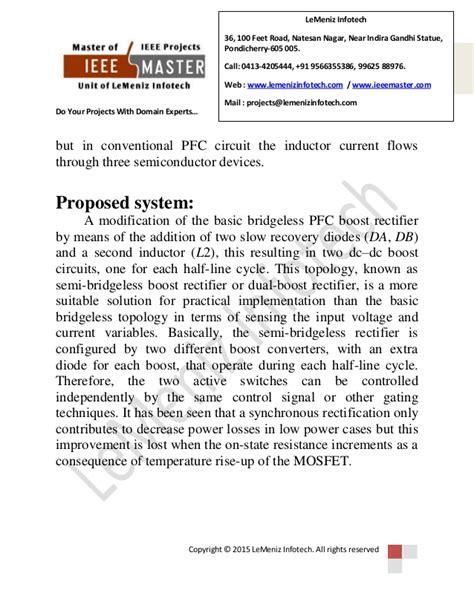 Loss Free Resistor Based Power Factor Correction Using