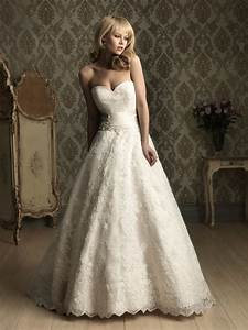 i heart wedding dress allure bridal ballgown With lace a line wedding dress