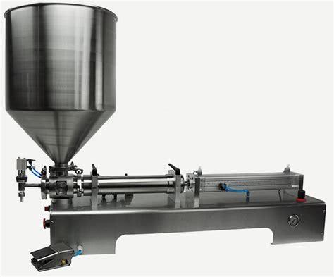 benchtop piston filling machine  viscous liquids piston filler