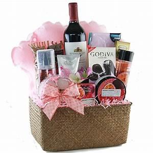 Spa Gift Baskets: Bubbles Wine Gift Basket | DIYGB