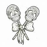 Skull Sugar Tattoo Tattoos Coloring Visit Adult Lovers sketch template