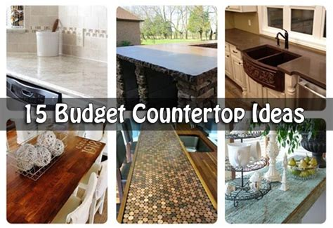cool kitchen countertops 15 budget countertop ideas