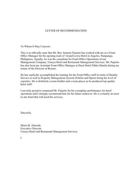 sample application letter general manager position