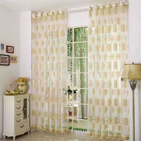 yellow sheer curtains beautiful yellow jacquard floral pattern sheer curtains