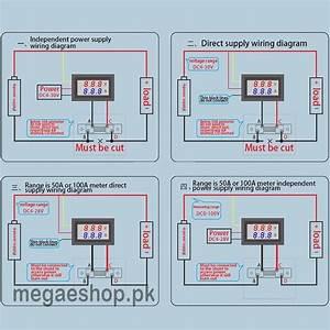 Dc 100v 50a Red Blue Digital Voltmeter Ammeter 2 In1 Dc