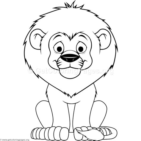 cartoon baby lion coloring pages getcoloringpagesorg
