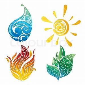 Vector symbols of elements | Stock Vector | Colourbox