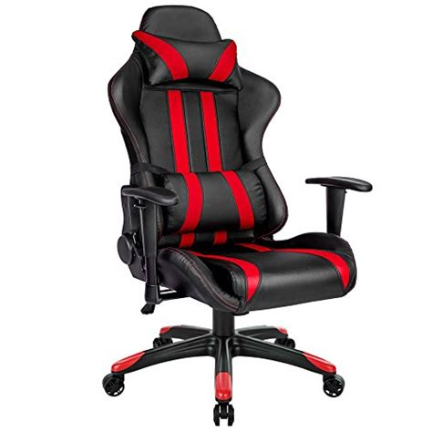 support lombaire bureau tectake chaise fauteuil siège de bureau racing sport