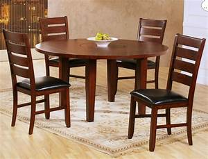 Homelegance Ameillia 5 Piece Drop Leaf Round Dining Room